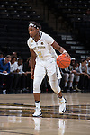 Amber Campbell (2) of the Wake Forest Demon Deacons brings the ball up the court during first half action against the North Carolina State Wolfpack at the LJVM Coliseum on January 8, 2017 in Winston-Salem, North Carolina.  The Wolfpack defeated the Demon Deacons 65-50.  (Brian Westerholt/Sports On Film)