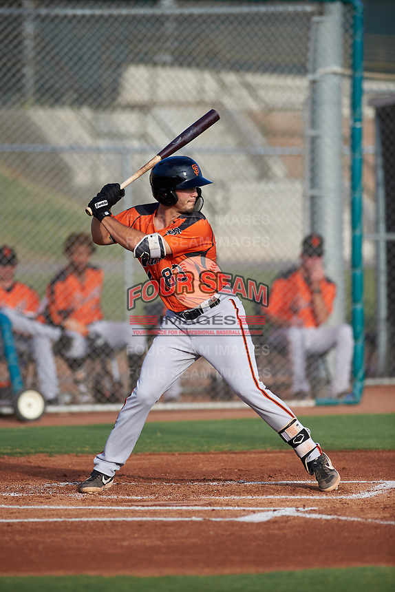 AZL Giants Orange Tyler Wyatt (83) at bat during an Arizona League game against the AZL Giants Black on July 19, 2019 at the Giants Baseball Complex in Scottsdale, Arizona. The AZL Giants Black defeated the AZL Giants Orange 8-5. (Zachary Lucy/Four Seam Images)