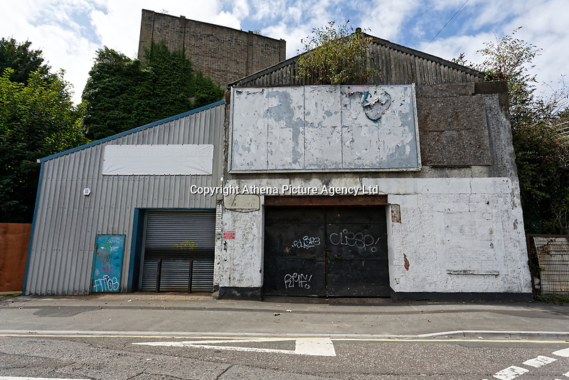A disused building in The Strand, Swansea, Wales, UK. Thursday 16 August 2018