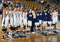 Florida International University women's basketball team after the game against ULM. FIU won the game 65-55 on January 07, 2012 at Miami, Florida. .