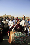 Jordan Valley, Qasr al Yahud. Ethiopian Orthodox pilgrims celebrates the Feast of Theophany