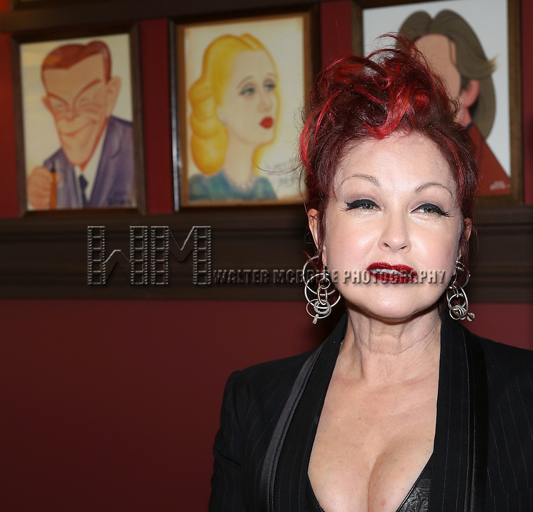 Cyndi Lauper attending the Cyndi Lauper Sardi's Caricature Unveiling at Sardi's in New York City on June 05, 2013.