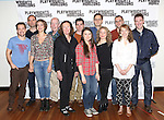 T.R. Knight, Danny Wolohan, Elvy Yost, Jonathan Hogan, Brenda Wehle, Cameron Scoggins, Leah Karpel, Davis McCallum, Jessica Dickey, Samuel D. Hunter, Crystal Finn and Brian Hutchison attend the 'Pocatello' Meet & Greet at Playwrights Horizons on October 21, 2014 in New York City.