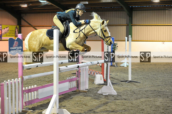 Class 5. Area 40 British showjumping christmas show. Brook Farm Training Centre. Essex. UK. 01/12/2018. ~ MANDATORY Credit Garry Bowden/Sportinpictures - NO UNAUTHORISED USE - 07837 394578