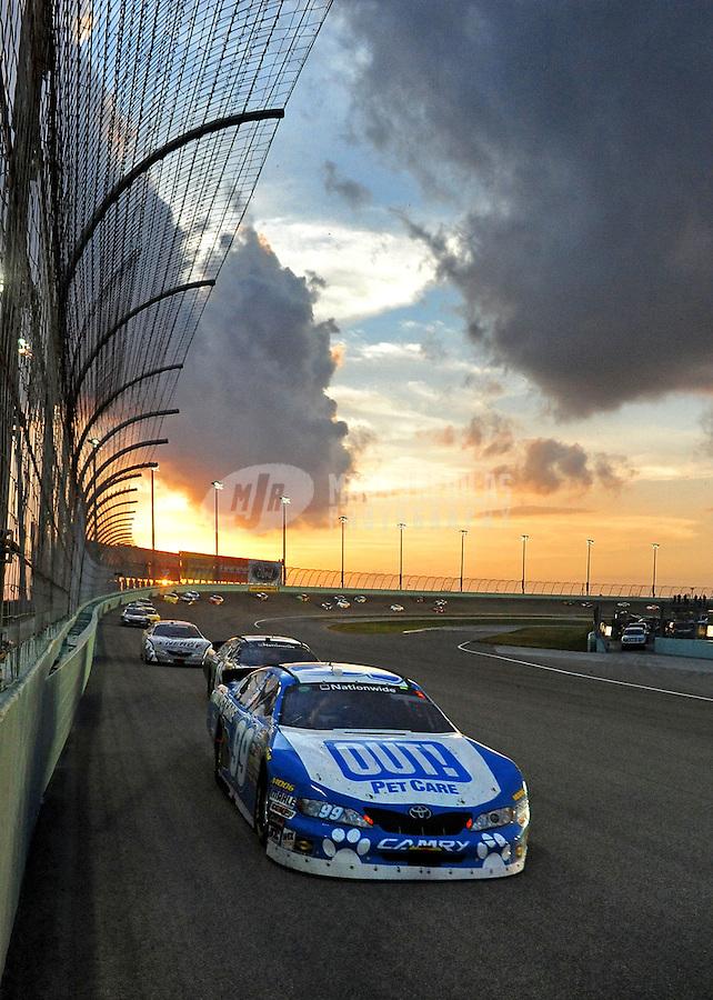 Nov. 20, 2010; Homestead, FL, USA; NASCAR Nationwide Series driver Martin Truex Jr during the Ford 300 at Homestead Miami Speedway. Mandatory Credit: Mark J. Rebilas-