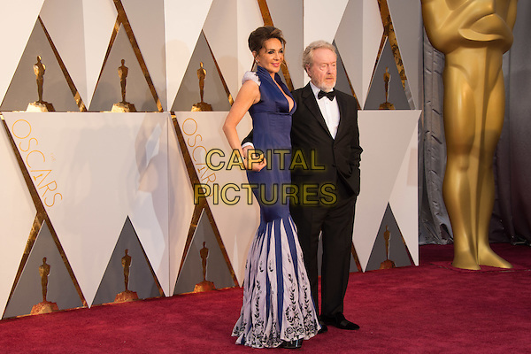 Oscar&reg;-nominee, Ridley Scott, arrives with guest at The 88th Oscars&reg; at the Dolby&reg; Theatre in Hollywood, CA on Sunday, February 28, 2016.<br /> *Editorial Use Only*<br /> CAP/PLF<br /> Supplied by Capital Pictures