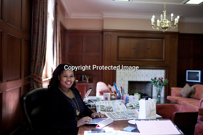 CAPE TOWN, SOUTH AFRICA - DECEMBER 14:  Lindiwe Mazibuko, the Democratic Alliance (DA) parliament leader works in her office at the parliament on December 14, 2011 in Cape Town, South Africa. Ms. Mazibuko is one of the youngest parliamentarians in South Africa and she is seen as a rising star in parliament and a possible future leader for DA, the main opposition party in South Africa. (Photo by Per-Anders Pettersson Fro The New York Times)