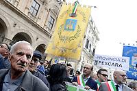 Roma, 2 Marzo 2017<br /> La popolazione dell'Abruzzo vittima del terremoto protesta per chiedere aiuti dal Governo