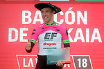 Michael Woods (CAN) EF-Drapac-Cannondale wins Stage 17 of the La Vuelta 2018, running 157km from Getxo to Balcón de Bizkaia, Spain. 12th September 2018.                   <br /> Picture: Unipublic/Photogomezsport | Cyclefile<br /> <br /> <br /> All photos usage must carry mandatory copyright credit (© Cyclefile | Unipublic/Photogomezsport)