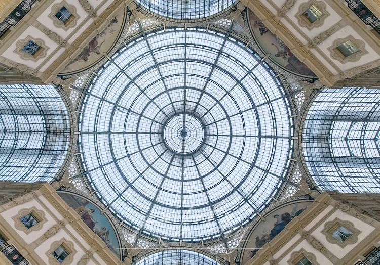 Italy, Milan, Galleria Vitorrio Emanuele II Ceiling