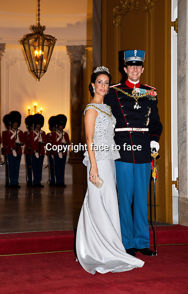 01-01-2014 Amalienborg Princess Marie and Prince Joachim at the New Years reception at Amalienborg in Copenhagen.<br />