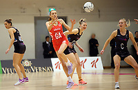 10.09.2017 England's Helen Housby in action during the Taini Jamison Trophy match between the Silver Ferns and England at Pettigrew Green Arena in Napier. Mandatory Photo Credit ©Michael Bradley.