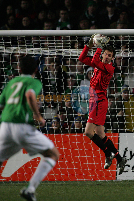 Dublin Ireland, Sweeden no 1 Andreas Isaksson Saving one of the Irish Balls during the friendly international match in Lansdowne Road Dublin 1/3/06..Photo EPA Aiden Crawley..(Photo credit should read EPA Photo/Aiden Crawley...This Picture has been sent you under the condtions enclosed by:.Newsfile Ltd..the Studio,.Millmount Abbey,.Drogheda,.Co Meath..Ireland..Tel: +353(0)41-9871240.Fax: +353(0)41-9871260.GSM: +353(0)86-2500958.email: pictures@newsfile.ie.www.newsfile.ie.FTP: 193.120.102.198..This picture is from Fran Caffrey@newsfile.ie