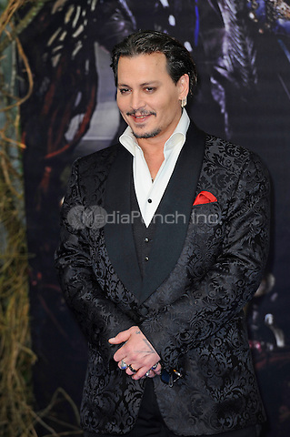 LONDON, ENGLAND - MAY 10: Johnny Depp attending the 'Alice Through The Looking Glass' European Premiere at Odeon Cinema, Leicester Square in London. on May 10, 2016 in London, England.<br /> CAP/MAR<br /> &copy; Martin Harris/Capital Pictures /MediaPunch ***NORTH AND SOUTH AMERICA ONLY***