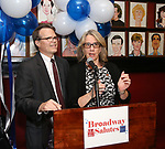 Mark Schweppe and Laura Penn attends The Broadway League and the Coalition of Broadway Unions and Guilds (COBUG) presents the 9th Annual Broadway Salutes at Sardi's on November , 2017 in New York City.