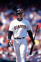 SAN FRANCISCO, CA -  J.T. Snow of the San Francisco Giants in action at Candlestick Park in San Francisco, California in 1998.  Photo by Brad Mangin