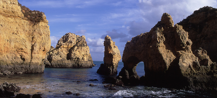 Europe, PRT, Portugal, Algarve, Lagos, Typical Rocky coast, Natural monument, Ponta da Piedade....[ For each utilisation of my images my General Terms and Conditions are mandatory. Usage only against use message and proof. Download of my General Terms and Conditions under http://www.image-box.com or ask for sending. A clearance before usage is necessary...Material is subject to royalties. Each utilisation of my images is subject to a fee in accordance to the present valid MFM-List...Contact | archive@image-box.com | www.image-box.com ]