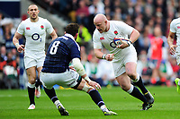 Dan Cole of England in possession. RBS Six Nations match between England and Scotland on March 11, 2017 at Twickenham Stadium in London, England. Photo by: Patrick Khachfe / Onside Images