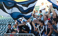 The Ultras bring their support to Sacramento. The San Jose Earthquakes defeated Chivas USA 6-5 in shootout after drawing 0-0 in regulation time to win the inagural Sacramento Cup at Raley Field in Sacramento, California on June 12, 2010.