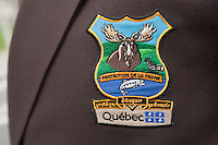 Protection de la faune Quebec badge is seen during a police memorial parade in Ottawa Sunday September 26, 2010.