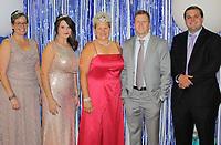 NWA Democrat-Gazette/CARIN SCHOPPMEYER Rhonda Adams (from left), Erin Goodwin, Patty Pain, Jon Coker and Zack Allen, Fincher homecoming candidates, help support the nonprofit organization.
