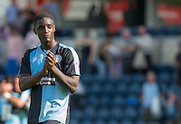 Anthony Stewart of Wycombe Wanderers after the 3-0 victory during the Sky Bet League 2 match between Wycombe Wanderers and York City at Adams Park, High Wycombe, England on 8 August 2015. Photo by Andy Rowland.