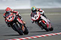 Noriyuki Haga (Jpn), Yamaha YZF R1 #41 Team Yamaha Motor Italia WSB, in full brawl against Troy Bayliss (Aus), Ducati 1098 F08 #21 Team Ducati Xerox, Sunday, June 15, 2008, in Nürburgring, Eifel, Germany. (Valentin Bianchi/pressphotointl.com)