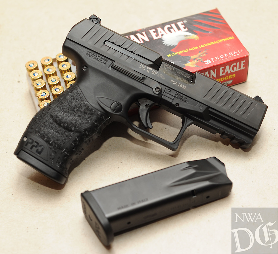 NWA Democrat-Gazette/ANDY SHUPE<br /> Longtime German gunmaker Walther Firearms in Fort Smith has designed the new PPQ 45, a .45-caliber pistol for the American market. Wednesday, Aug. 26, 2015.