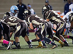 Torrance, CA 10/02/15 - Drake Peabody (West #7), Luca D'Eusebio (West #53) and Luis Aguiar (West #57) in action during the Carson-West Torrance CIF varsity football game at West Torrance High School.  Carson defeated West Torrance 34-27.