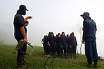 An eradication coca plants group gets ready to work in the mountains of Antioquia department, while they are escorted by the Colombian soldiers and anti-explosive dogs to clean the area of explosive devices placed by guerrilla groups and criminal gangs. In Colombia so far this year have been eradicated 900 hectares in the country, mainly in rural areas, there are about 2,500 men engaged in this work. According to the Presidential Program for Comprehensive Action against Antipersonnel Mines, between 1990 and January 31, 2012, have been affected by landmines l9.642 people, of these, 674 were injured in eradication. Medellín, July 3 of 2012. Photo by Fredy Amariles/ VIEWpress.