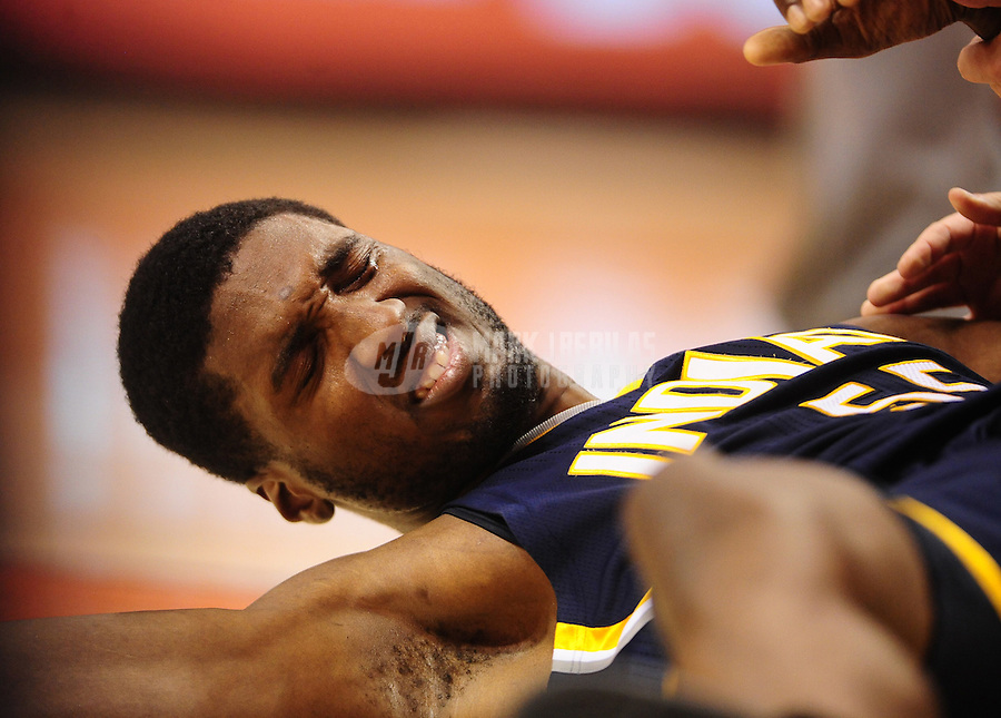 Dec. 3, 2010; Phoenix, AZ, USA; Indiana Pacers center (55) Roy Hibbert against the Phoenix Suns at the US Airways Center. Mandatory Credit: Mark J. Rebilas-