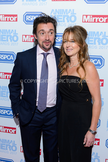 www.acepixs.com<br /> <br /> September 7 2017, London<br /> <br /> Richard Hammond and Mindy Hammond attending the Animal Hero Awards 2017 on at the Grosvenor Hotel on September 7 2017 in London<br /> <br /> By Line: Famous/ACE Pictures<br /> <br /> <br /> ACE Pictures Inc<br /> Tel: 6467670430<br /> Email: info@acepixs.com<br /> www.acepixs.com