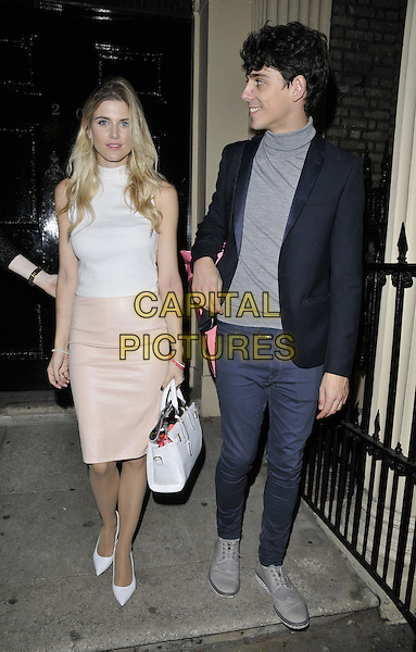 LONDON, ENGLAND - OCTOBER 27: Lilah Parsons, Ashley James &amp; Matt Richardson attend the Boux Avenue: Love Christmas launch party, Home House, Portman Square, on Monday October 27, 2014 in London, England, UK. <br /> CAP/CAN<br /> &copy;Can Nguyen/Capital Pictures