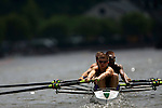 A four man crew rows down the river as they compete during the 68th Dad Vail Regatta on the Schuylkill River in Philadelphia, Pennsylvania on May 12, 2006........