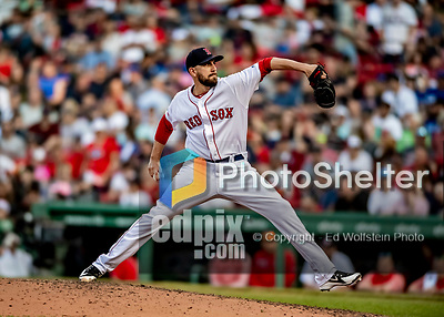 Jun 22, 2019; Boston, MA, USA; Boston Red Sox pitcher Matt Barnes on the mound in the 8th inning against the Toronto Blue Jays at Fenway Park. Mandatory Credit: Ed Wolfstein-USA TODAY Sports