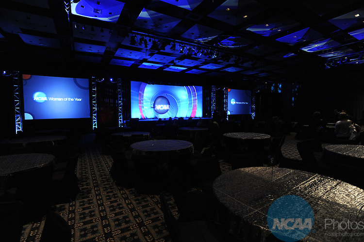 18 OCT 2009: Honorees and guests at the event rehearsal during the 2009 NCAA Woman of the Year Awards in Indianapolis, IN.  Brett Wilhelm/NCAA Photos