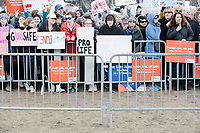People gather during the March For Our Lives protest and demonstration in Boston Common in Boston, Massachusetts, USA, on Sat., March 24, 2018. The march was held in response to recent school gun violence.