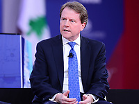 National Harbor, MD - February 22, 2018: White House Counsel Donald McGahn participates in a discussion during the Conservative Political Action Conference (CPAC) at the Gaylord National Hotel in National Harbor, MD, February 22, 2018  (Photo by Don Baxter/Media Images International)