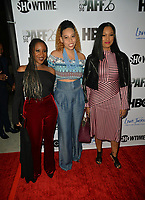 LOS ANGELES, CA- FEB. 08: Kelley Kali, Lisa Wilson, Garcelle Beauvais at the 2018 Pan African Film & Arts Festival at the Cinemark Baldwin Hills 15 in Los Angeles, California on Feburary 8, 2018 Credit: Koi Sojer/ Snap'N U Photos / Media Punch