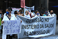24/06/2020 - FUNCIONARIOS DA SAUDE PROTESTAM NO RIO DE JANEIRO-RJ