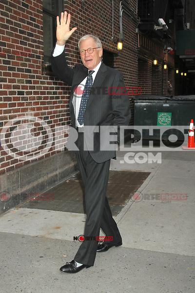 NEW YORK, NY - NOVEMBER 1: David Letterman before his show at The Ed Sullivan Theater in New York City. November 1, 2012. Credit: RW/MediaPunch Inc. /NortePhoto .<br /> &copy;NortePhoto