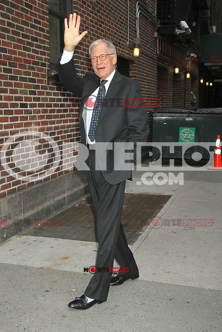 NEW YORK, NY - NOVEMBER 1: David Letterman before his show at The Ed Sullivan Theater in New York City. November 1, 2012. Credit: RW/MediaPunch Inc. /NortePhoto .<br />