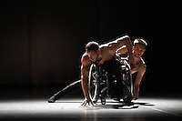 Adam Gain and Joel Brown<br /> perform in 'Beheld' by the Candoco Dance Company at Sadlers Wells, London.<br /> <br /> <br /> ©Ash Knotek  D3187  21/10/2016
