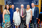 Johnny and Tina Wall from Tralee celebrating their 50th wedding anniversary in the Brandon Hotel on Saturday night<br /> L to r: Mary B, Mikey, Johnny, Tina, Kathleen and Johnny Wall Jnr.