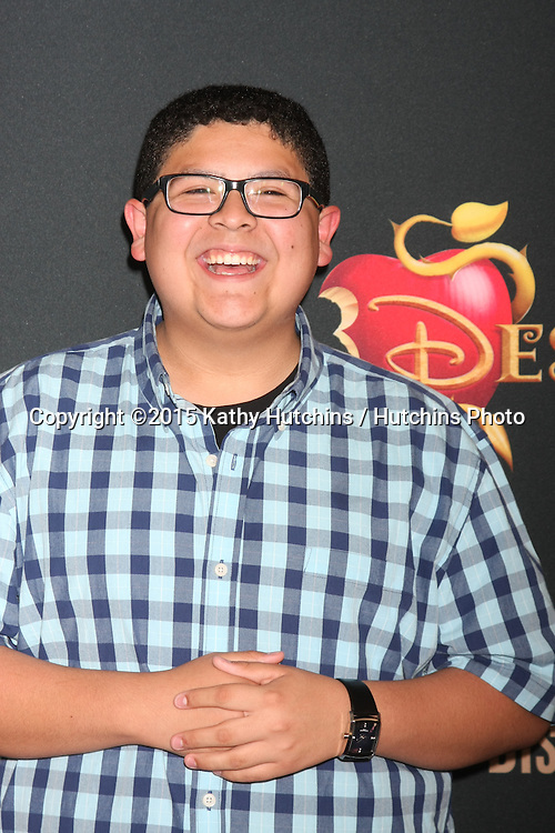 "LOS ANGELES - JUL 24:  Rico Rodriguez at the ""Descendants"" Premiere Screening at the Walt Disney Studios on July 24, 2015 in Burbank, CA"