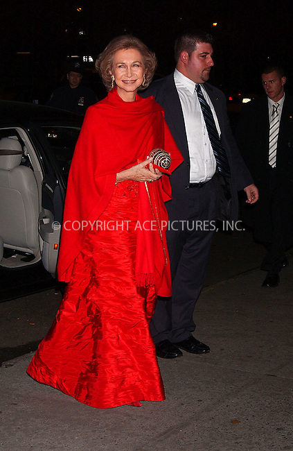 WWW.ACEPIXS.COM . . . . . ....November 29 2007, New York City....Queen Sofia of Spain attending the Spanish Institute's Gold Medal Gala, held at the 583 Park Ave, ....Please byline: KRISTIN CALLAHAN - ACEPIXS.COM.. . . . . . ..Ace Pictures, Inc:  ..(646) 769 0430..e-mail: info@acepixs.com..web: http://www.acepixs.com