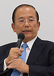September 1, 2015, Tokyo, Japan - In this photo released on September 2, 2015, shows Toshio Muto, director general of the organizing committee of the 2020 Tokyo Olympics, addressing the media during a news conference in downtown Tokyo late Tuesday, September 1, 2015. The Tokyo Organising Committee announced that it would cease to use the controversial emblem for the 2020 Tokyo Olympic and Paralympic Games which has become the subject of claims of plagiarism. (Photo by AFLO)