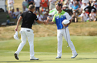Making birdie on the last for -10 is Jaco Van Zyl (RSA) during Round Three of the 2015 Alstom Open de France, played at Le Golf National, Saint-Quentin-En-Yvelines, Paris, France. /04/07/2015/. Picture: Golffile | David Lloyd<br /> <br /> All photos usage must carry mandatory copyright credit (© Golffile | David Lloyd)