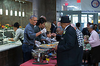 United States President Barack Obama and First Lady Michelle Obama serve Thanksgiving dinner to residents at the Armed Forces Retirement Home in Washington, DC, USA, 23 November 2016.<br /> Credit: Shawn Thew / Pool via CNP /MediaPunch