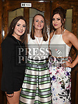 Alanah Dowling, Shauna Brennan and Niamh Murray at St. Kevin's GFC annual Dinner in the Grove House Hotel Dunleer. Photo:Colin Bell/pressphotos.ie